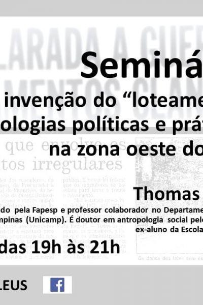 Seminário LEUS - Maio 2021