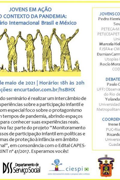 Jovens em Ação no Contexto da Pandemia: Seminário Internacional Brasil e México